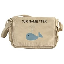 Custom Blue Whale Messenger Bag