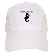 Custom Black Seahorse Silhouette Baseball Baseball Cap