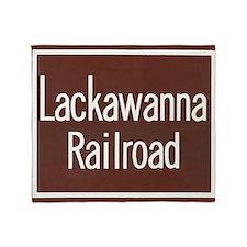 Lackawanna Railroad Sign Throw Blanket