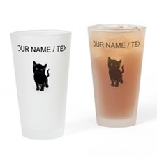 Custom Black Kitten Drinking Glass
