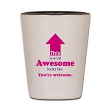 Awesome_pink Shot Glass