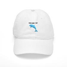 Custom Blue Dolphin Baseball Baseball Cap