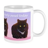 Sweet Black Cat Mug