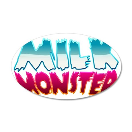 milk_monster 35x21 Oval Wall Decal