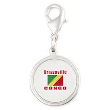 Brazzaville Congo Designs Silver Round Charm