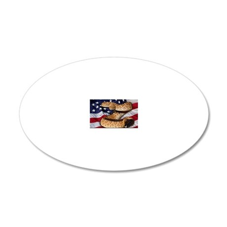 DontTreadOnMe 20x12 Oval Wall Decal