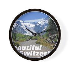 cover switzerland calendar Wall Clock