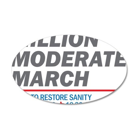 Million Moderate March 35x21 Oval Wall Decal