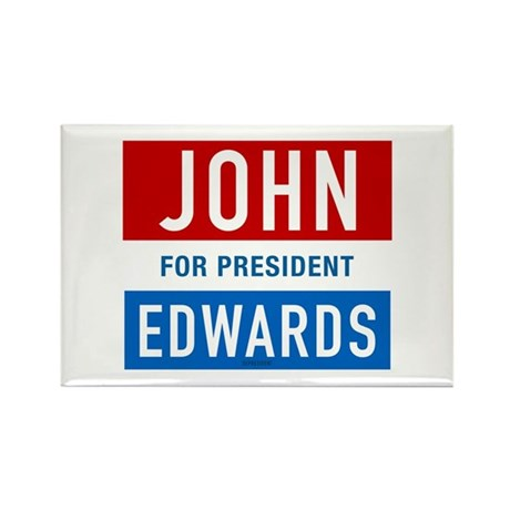 John Edwards Classic Rectangle Magnet