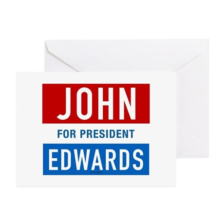 John Edwards Classic Greeting Cards (Pk of 10)