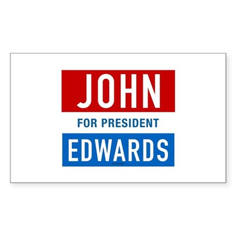 John Edwards Classic Rectangle Sticker