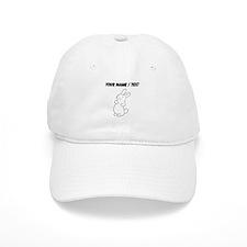 Custom White Bunny Cartoon Baseball Baseball Cap