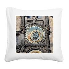 astronomical clock Square Canvas Pillow