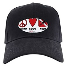 3-Peace-Love-Dive Baseball Hat