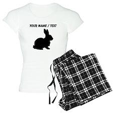 Custom Black Bunny Silhouette Pajamas