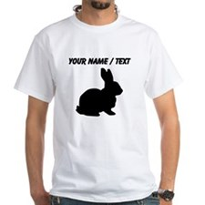 Custom Black Bunny Silhouette T-Shirt