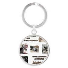 A Day in the Life Round Keychain