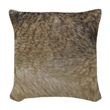 Wolf fur print Woven Throw Pillow