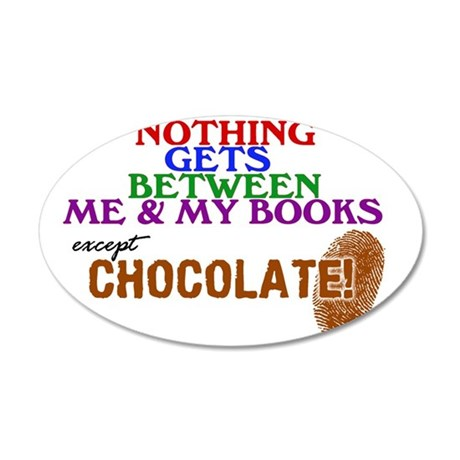 2-logo except chocolate larg 35x21 Oval Wall Decal