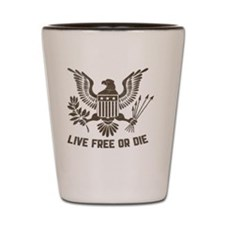 2-Live Free or Die 2 Shot Glass
