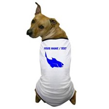 Custom Blue Trout Silhouette Dog T-Shirt
