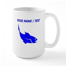 Custom Blue Trout Silhouette Mugs