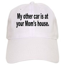 yourmomshousebumperstickersmall Baseball Cap