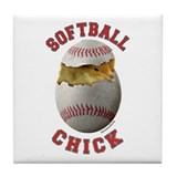 Softball Chick 2 Tile Coaster
