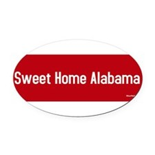 Cute Alabama patriotic Oval Car Magnet