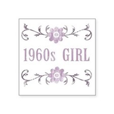 "FlowerGirl1960 Square Sticker 3"" x 3"""