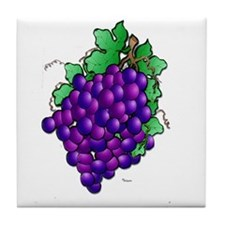 Tile grapes, coaster or tile