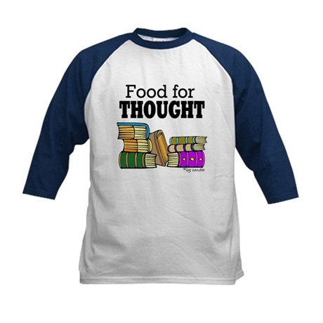 Food for Thought Kids Baseball Jersey