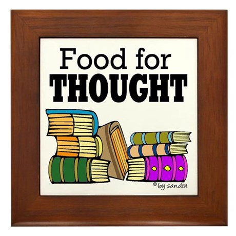 Food for Thought Framed Tile