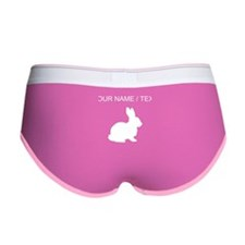 Custom White Bunny Silhouette Women's Boy Brief