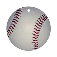 baseballminibutton Round Ornament