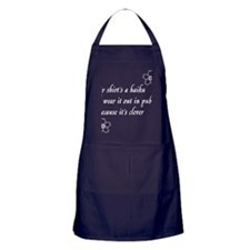 Haiku Shirt white Apron (dark)
