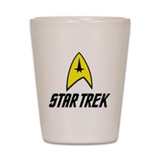Star Trek Insignia- Black Shot Glass
