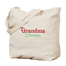 Personal name Christmas Grandma Tote Bag