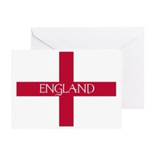 PC English Flag - England Mil Greeting Card
