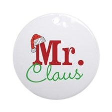 Christmas Mr Personalizable Ornament (Round)