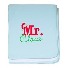Christmas Mr Personalizable baby blanket