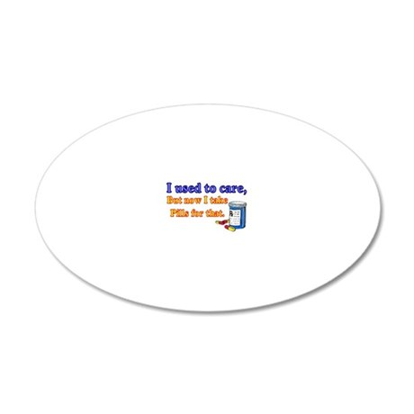 3-pill4 20x12 Oval Wall Decal