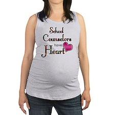 Teachers Have Heart counselors Maternity Tank Top