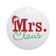 Christmas Mrs personalizable Ornament (Round)
