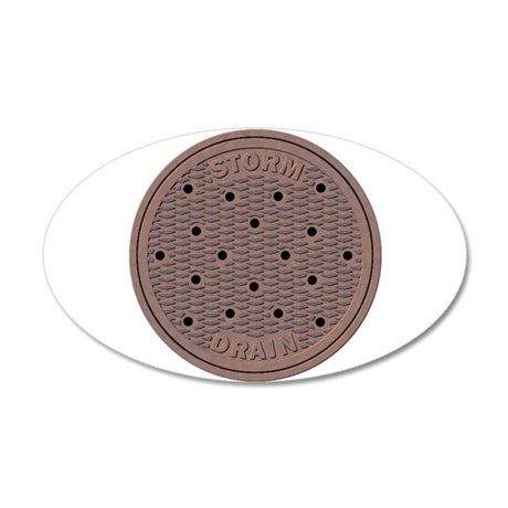 Manhole Cover Wall Decal