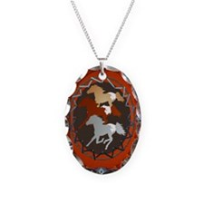 Horse and Shield-oval ornament Necklace