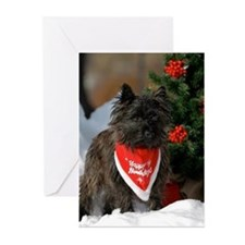 Cairn Terrier Howling Good Holiday Cards Greeting