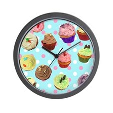 CupcakesPolkaDots Wall Clock