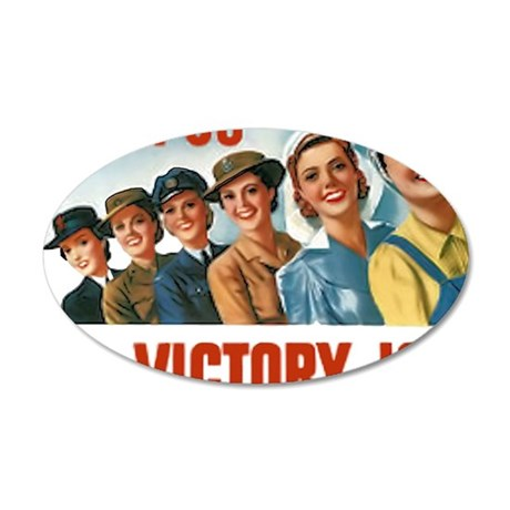 Join Us in a Victory Job 35x21 Oval Wall Decal