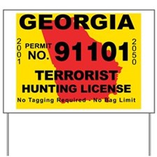 terrorist-hunting-license-GA Yard Sign